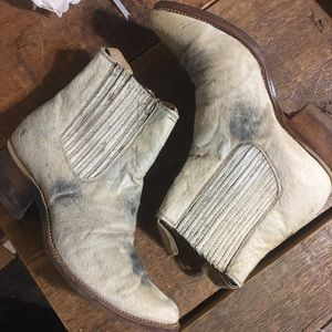 Shoes - Cow hide booties